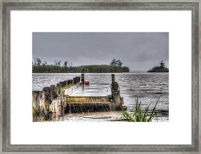 Framed Print featuring the photograph Rained Out by Charlotte Schafer