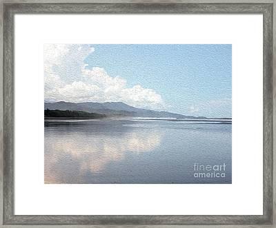 Rainforest And Ocean In Costa Rica Framed Print