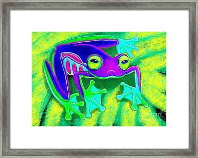 Rainforest Frog Framed Print by Nick Gustafson