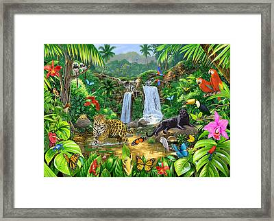 Rainforest Harmony Variant 1 Framed Print by Chris Heitt