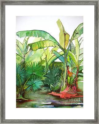 Rainforest Framed Print by Maya Simonson