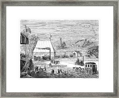 Rainhill Locomotive Trials Framed Print by Science Photo Library