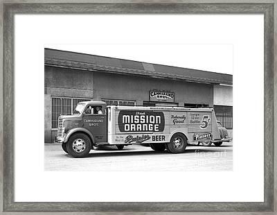 Rainier Beer Mission Orange Framed Print