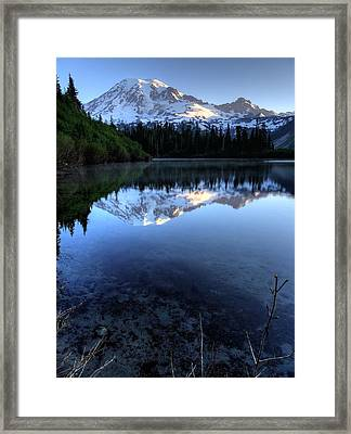Rainier Redefined Framed Print