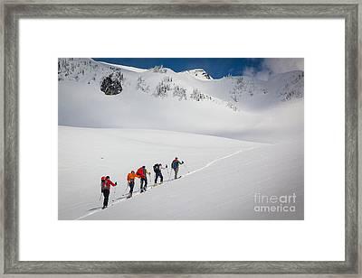 Rainier Snowshoers Framed Print by Inge Johnsson