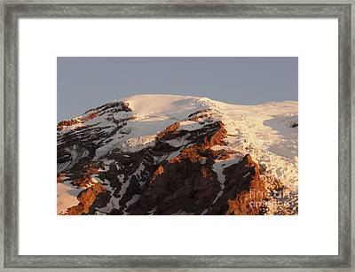 Rainier Summit Framed Print by Sharon Seaward