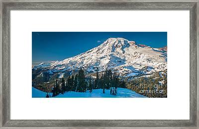 Rainier Winter Wonderland Framed Print
