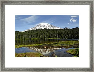 Framed Print featuring the photograph Rainier's Reflection by Tikvah's Hope