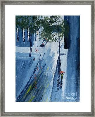 Raining Again Framed Print