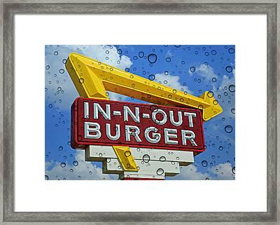 Raining Cali Classic Burgers Framed Print by Stephen Stookey