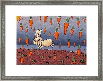 Raining Carrots Framed Print