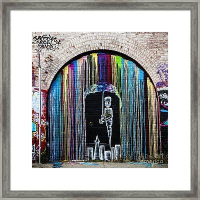 Raining Colors Framed Print
