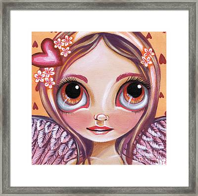 Raining Hearts Framed Print by Jaz Higgins