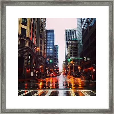 Raining In Baltimore Framed Print