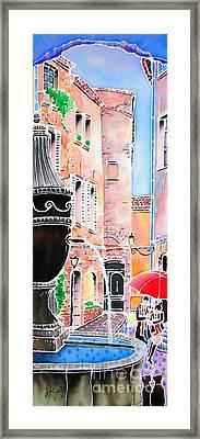 Raining In St-paul De Vence Framed Print