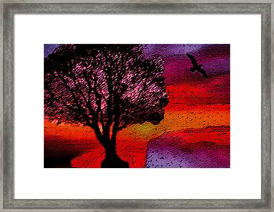 Acid Rain Framed Print by Lisa McKinney