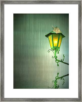 Raining Framed Print by Sharon Lisa Clarke