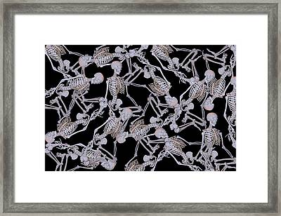 Raining Skeletons Framed Print by Betsy Knapp