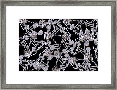 Raining Skeletons Framed Print by Betsy Knapp