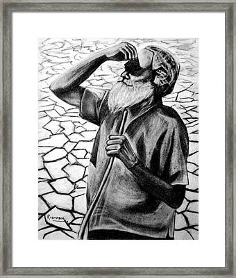 Rains Are Like Gold For Us Framed Print by Rishabh Ranjan