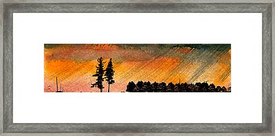 Rains Framed Print by R Kyllo