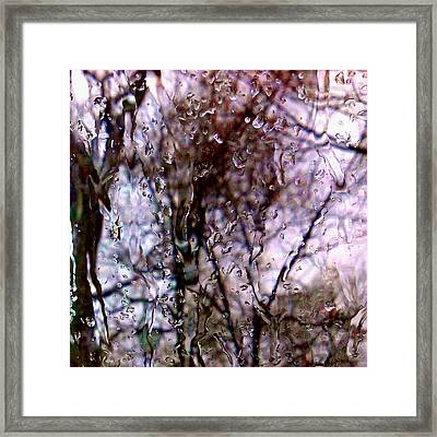 Framed Print featuring the photograph Rainscape - Rain On The Window Series 1 Abstract Photo by Marianne Dow