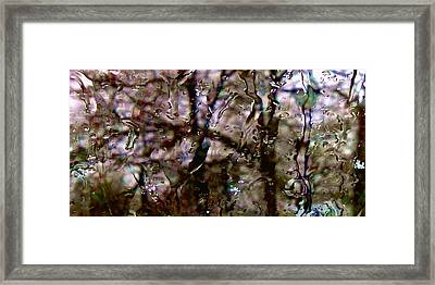 Framed Print featuring the photograph Rainscape - Rain On The Window Series 3 Abstract Photo by Marianne Dow