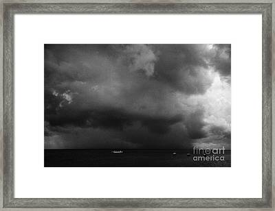 Rainstorm Thunderstorm Storm Clouds Approaching Key West Florida Usa Framed Print by Joe Fox