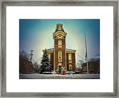 Raintree County Courthouse Framed Print by Mark Orr