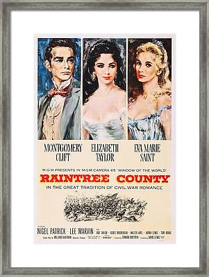 Raintree County, Us Poster, From Left Framed Print by Everett