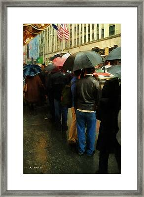 Rainy Afternoon On Broadway Framed Print by RC deWinter