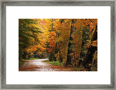 Rainy Autumn Morning Framed Print