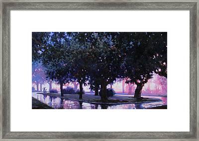 Rainy Boulevard Framed Print