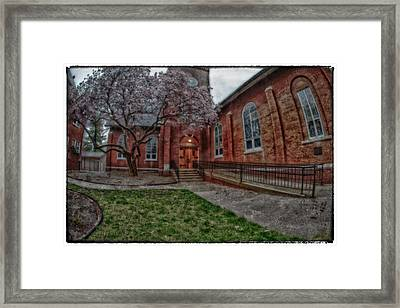 Rainy Church Framed Print