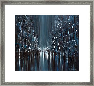 Rainy City. Monday Framed Print