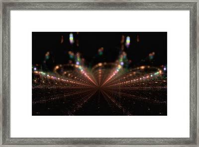 Rainy City Night Framed Print