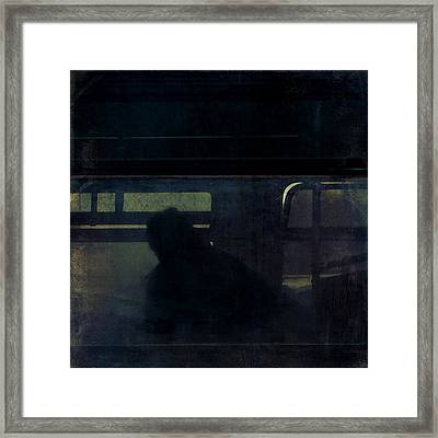 Rainy Commute Framed Print by Lin Haring