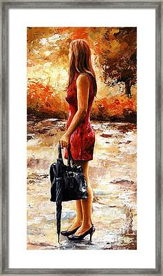 Rainy Day - After The Rain Framed Print by Emerico Imre Toth