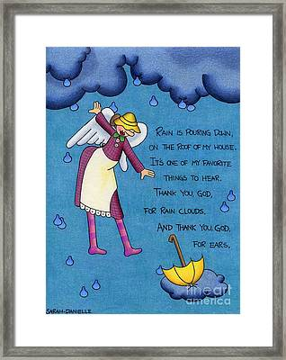 Rainy Day Angel Framed Print