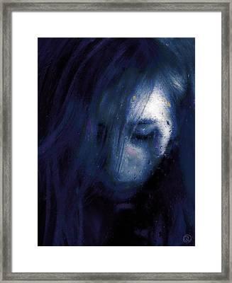 Rainy Day Blues Framed Print