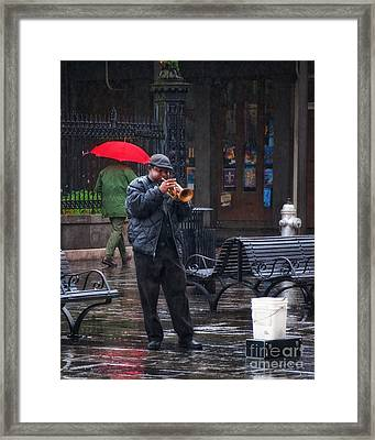 Rainy Day Blues New Orleans Framed Print