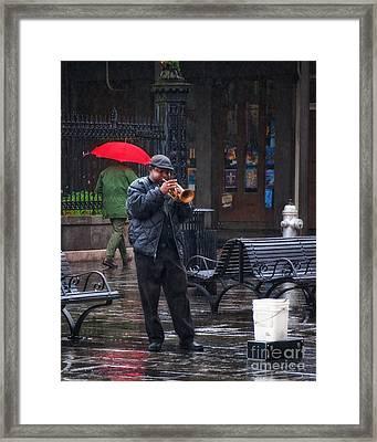 Rainy Day Blues New Orleans Framed Print by Kathleen K Parker