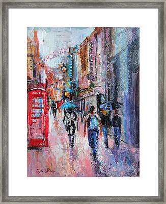 Rainy Day  Carnaby Street Framed Print by Sylvia Paul
