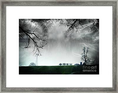 Rainy Day Farm Ver-5 Framed Print