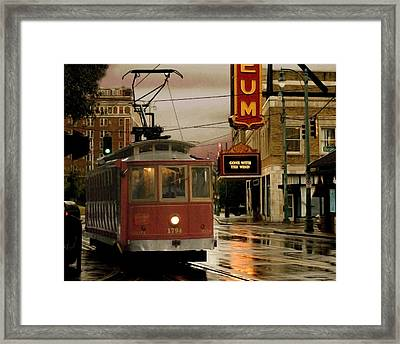 Rainy Day In Memphis Framed Print