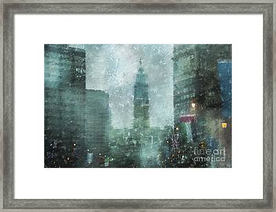 Rainy Day In Philadelphia  Framed Print by Diane Diederich