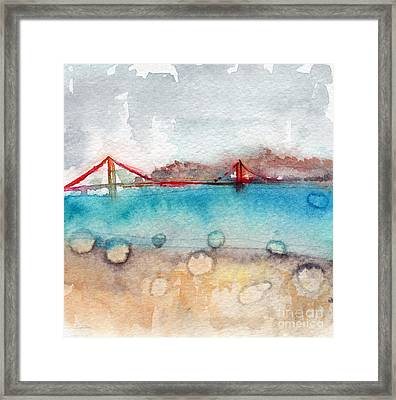 Rainy Day In San Francisco  Framed Print by Linda Woods