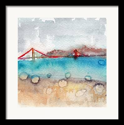 Gate Watercolor Framed Prints