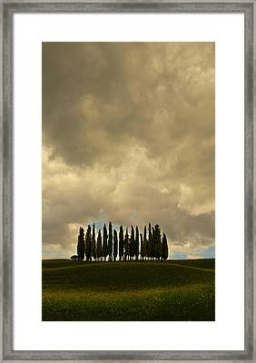 Rainy Day In Toskany Framed Print by Jaroslaw Blaminsky