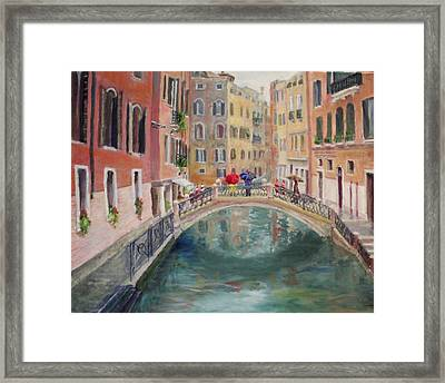 Rainy Day In Venice Framed Print